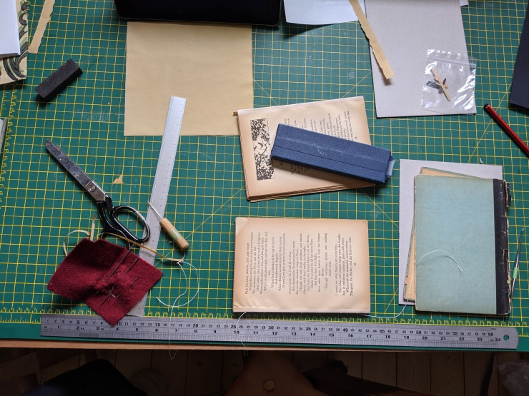 Holly Smith Book and Paper Conservation, Brighton, UK. A Book of Famous Poems - During Treatment